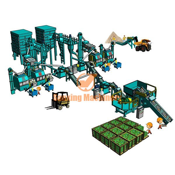 PCB board recycling plant